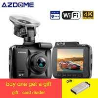 AZDOME GS63H WDR 4K GPS intégré WiFi dash cam Vision nocturne caméra enregistreur de voiture Dual Lens Vehicle Rear View car dvr