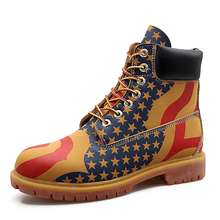Yellow Leather Ankle Boots Men Timber Casual Shoes 2019 land Motorcycle Waterproof Bot Winter Camouflage