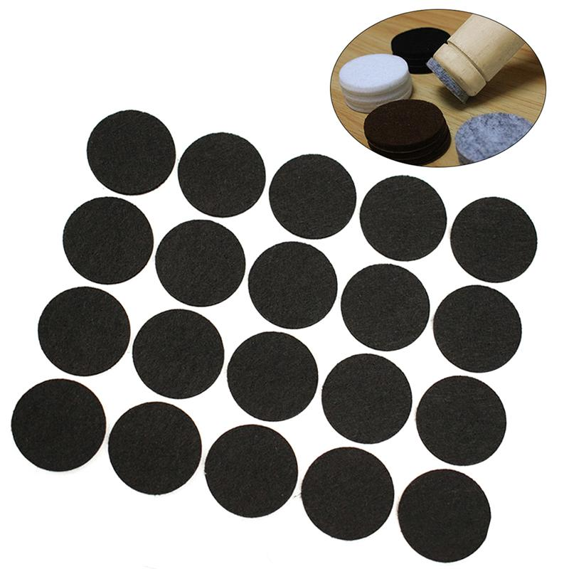 100 Pcs Felt Furniture Pads Felt Feet Mats Self-Adhesive Non-Slip Furniture Pads Round Table And Chair Feet Protective Mats