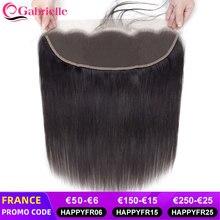 Gabrielle laço transparente frontal brasileiro em linha reta 13x4 fechamento frontal do laço cabelo humano médio marrom suíço rendas remy cabelo