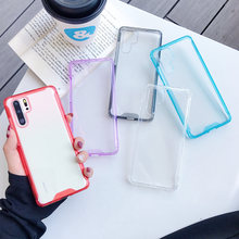 Soft Color Bumper Acrylic Transparent Hard Case For Huawei P20 P30 Mate 20 Pro P30 Lite P20lite Nova 3e 4e Shockproof Back Cover(China)
