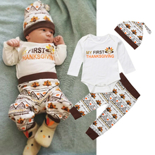 Thanksgiving Toddler Kids Baby Girl clothes long sleeve Tops + plaid Pants Leggings +headband 3Pcs Outfits Clothes set thanksgiving toddler kids baby girl clothes long sleeve tops plaid pants leggings headband 3pcs outfits clothes set