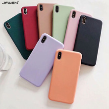 Soild Color Case For iPhone X XR XS 11 Pro Max Case Silicone Cover For iphone 8 6 6S 7 Plus Case Back Cover Soft TPU Phone Cases fashion brand pink soft silicon tpu case for iphone 11 pro max phone case for iphone x xr xs max 8 7 6 6s plus secret back cover