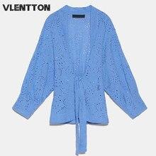 Blusa holgada de manga larga con cuello en V para primavera y otoño, camisa Sexy Vintage con cintas bordadas para Mujer, partes de arriba sueltas de manga larga, 2020