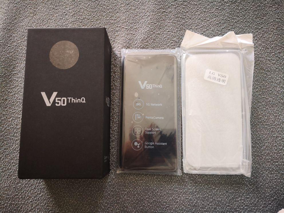 V500N Original LG V50 ThinQ 6.4Inches 6GB RAM 128GB ROM 16MP Triple Rear Camera LTE Fingerprint Unlocked Cellphone