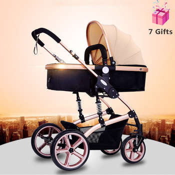 Upscale Light Stroller Luxury HighLandview Baby Strollers 2020 Prams for Newborns Multifunction Infant Pushchair Free Shipping imbaby high landscape lightweight baby strollers for travel plane baby carriages for newborns light baby prams baby pushchair