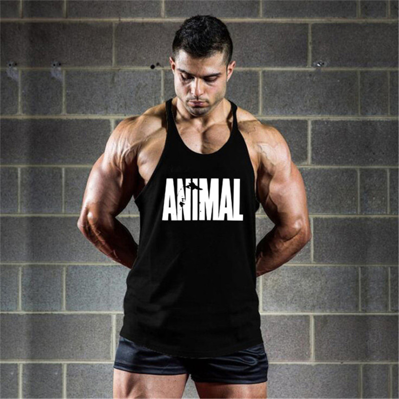 New product men's fitness vest summer brand cotton sleeveless top casual fashion fitness vest men's fitness clothing fitness men