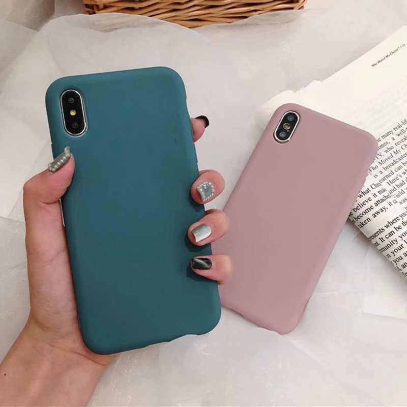 Ultra thin Solid Color Green Cases Phone Cover For Huawei Nova 3 2S Mate 20 10 Pro Honor 9 10 Soft TPU For Huawei P10 P20 Pro