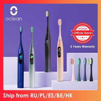 Global Version Oclean X Pro Sonic Electric Toothbrush Adult IPX7 2-in-1 Charger Holder Color Touch Screen Toothbrush Fast Charge