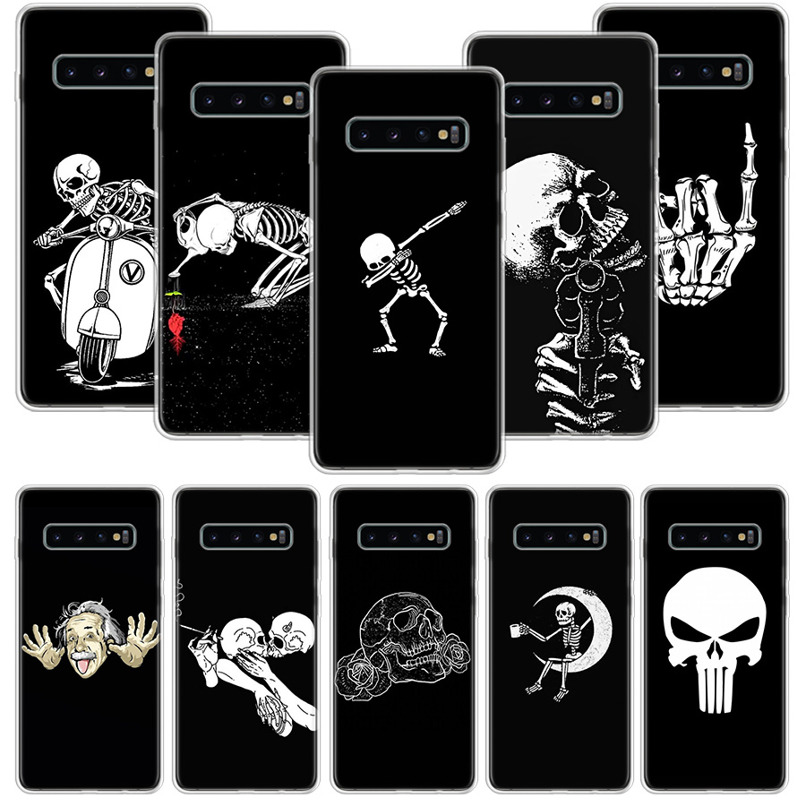 Spooky Skull <font><b>Funny</b></font> Dance Skeleton <font><b>Case</b></font> for <font><b>Samsung</b></font> Galaxy S20 Ultra <font><b>Note</b></font> 10 <font><b>9</b></font> 8 S10E S9 S8 J4 J6 J8 Plus + Pro S7 S6 Soft Phone image