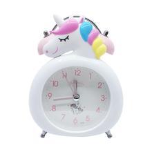 Digital Clock Unicorn Night-Light Bedroom Home-Decor Kids Children Cartoon Birthday-Gift