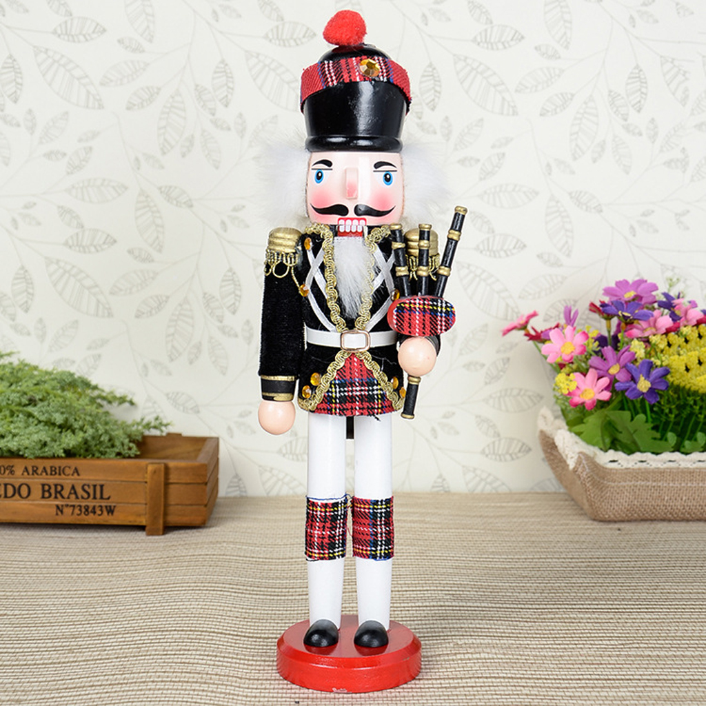 2x Hand Painted Bagpipes Soldier & Soldier W/ACCS Nutcracker Christmas Decor