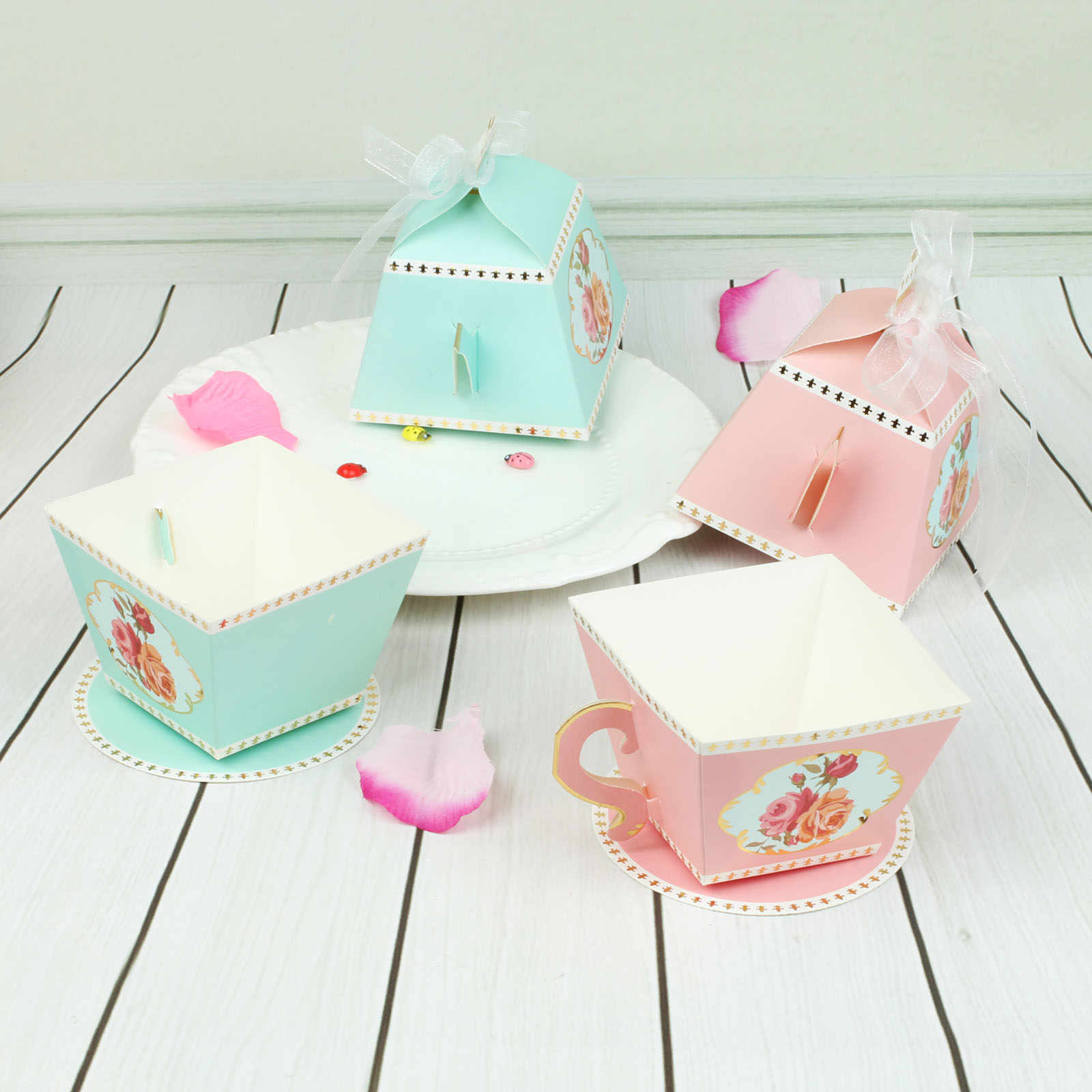 10Pcs Candy Boxes Tea Party Favors Wedding Gifts For Guests Bridal Shower Birthday Party Baby Shower Decoration