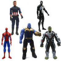 30 Cm Marvel Avengers Jouets Thanos Hulk Buster Spiderman Iron Man Captain America Thor Wolverine Black Panther Figurine Poupées