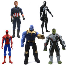 30 Cm Marvel Avengers Jouets Thanos Hulk Buster Spiderman Iron Man kapitan ameryka Thor Wolverine czarna pantera figurka Poupées tanie tanio Disney Model 1 60 Zachodnia animiation Żołnierz gotowy produkt Second edition 3 lat Części Wyroby gotowe a0101 Unisex