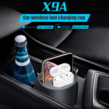 X9A Car Wireless Charger Cup with USB Output 10W Fast Charging for Airpods for iPhone Samsung LG For Xiaomi Sony Huawei Nokia new 2021high quality unisex women men baseball cap cartoon embroidery bone snapback hat summer outdoor adjustable hip hop hats