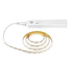 Czujnik podczerwieni Pir Led oświetlenie kuchni Dc 5V lampa taśmowa do szafy szafka dekoracja ścienna pod oświetlenie łóżka 3 metry