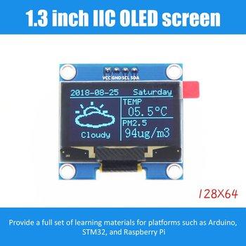 1PCS 4PIN 1.3 OLED module white/blue color 128X64 1.3 inch OLED LCD LED Display Module 1.3 IIC I2C Communicate open smart 0 96 inch i2c interface blue color oled display breakout module 128 64 for arduino uno r3 mega2560 leonardo