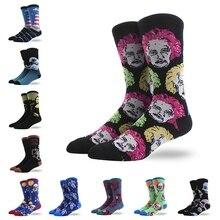 Retro Style Art Patterned Men Sports Socks Anti-slip Breathable Cotton Footwear Hosiery Accessories