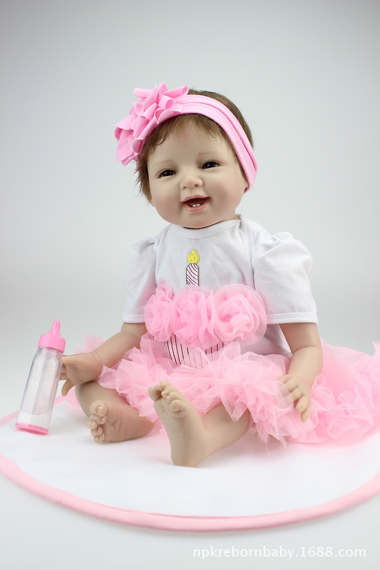 NPK Silica Gel Doll Body Simulated Doll Infant Confinement Nurse Early Childhood Infant Props GIRL'S Toy Gift