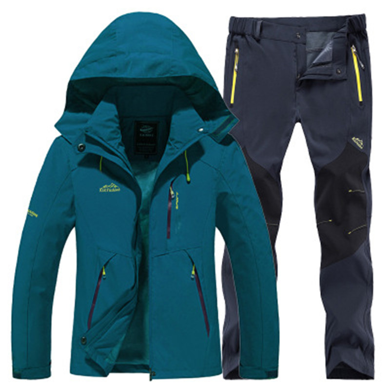 New Winter Men's Sportswear, Marching Suit And Trousers, Tinder Lining, Hot Ski Suit, Wind Shield Mountaineering Suit