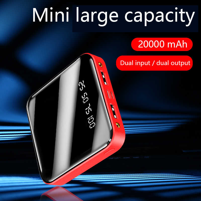 Para Xiaomi Mini Power Bank 20000mAh portátil de carga rápida PowerBank LED Dual USB PoverBank cargador de batería externa para iPhone