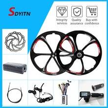 Электрический автомобиль SDYITN, встроенный колесный двигатель, 20 дюймов, 26 дюймов, 36 В, 48 В, литий-магниевый сплав, одно колесо