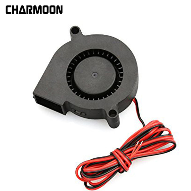 High Quality 3D Printer Cooler Fan DC 12V 24V Connector Brushless Cooling Turbo Blower Fan 50x15mm 3D Printer Mini Cooler Fan