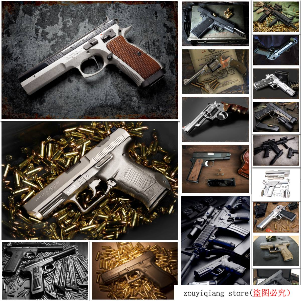 Dan Wesson Pistol Gun Tin Sign Metal Sign Metal Decor Wall Decor Vintage Metal Poster Plate Plaques Wall Sticker Iron Painting