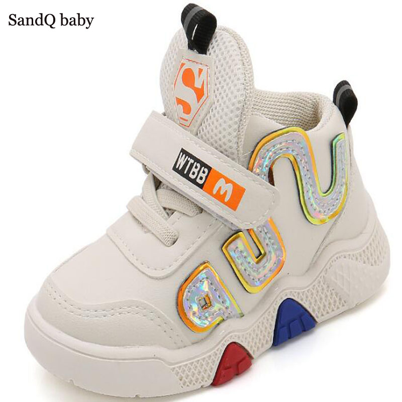 Boys Boots Sneakers Girls Trainers Tennis Shoes Casual High Cut Fashion Toddler Running Shoe Sport Fall Winter SandQ New