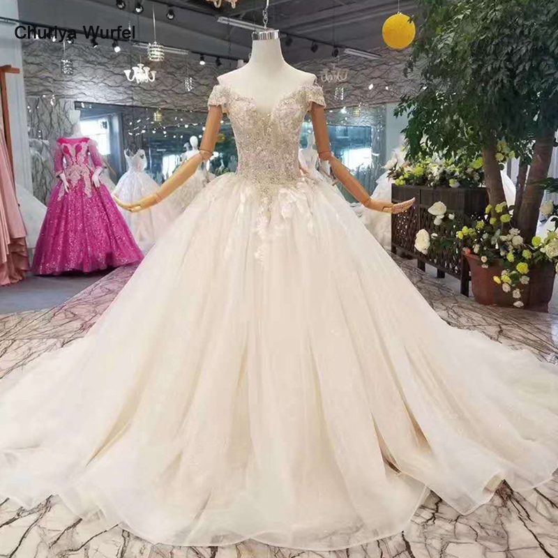 LSS112 free shipping wedding dresses off the shoulder sweetheart shiny wedding gown with train china wholesale 2018 new design in Wedding Dresses from Weddings Events