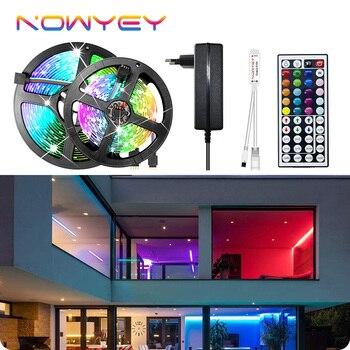 LED Strip 5050 2835 Waterproof 12V 5M 10M 15M RGB Lights for Room Remote Control RGB Tape Neon Ribbon