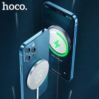 HOCO Magnetic Drahtlose Ladegerät 15W Schnelle qi Drahtlose Aufladen pad Tragbare Magnetische für iPhone 12 mini 12 Pro Max 11 Xiaomi mi 10
