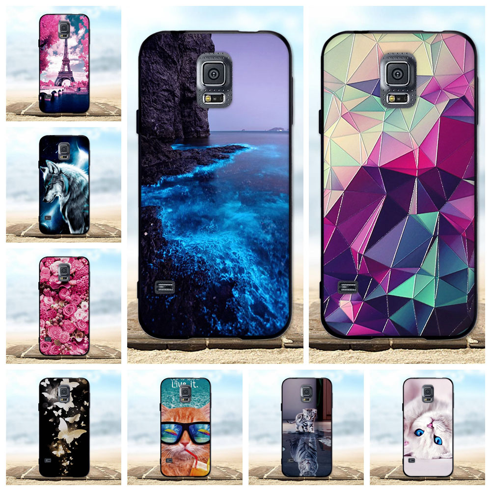 For <font><b>Samsung</b></font> <font><b>Galaxy</b></font> <font><b>S5</b></font> i9600 <font><b>G900F</b></font> <font><b>Case</b></font> Cover Soft Silicone TPU Black Shell For <font><b>Samsung</b></font> <font><b>S5</b></font> <font><b>Case</b></font> 3D For <font><b>Samsung</b></font> <font><b>S5</b></font> Neo 903F <font><b>Cases</b></font> image