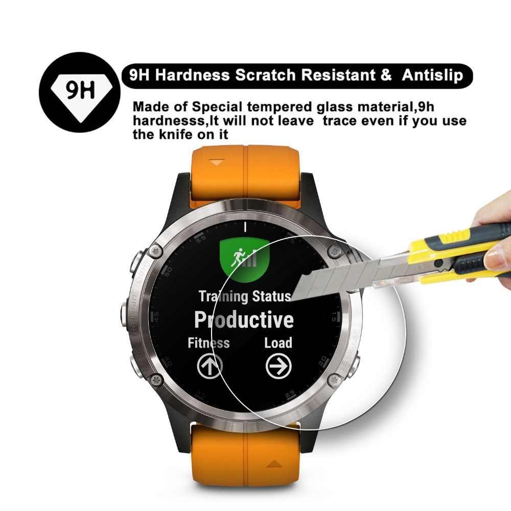 2019 خفف ساعة زجاجية واقي للشاشة 9H ريال التغطية الكاملة ملحقات هواتف ذكية للغارمين فينيكس 5 Series