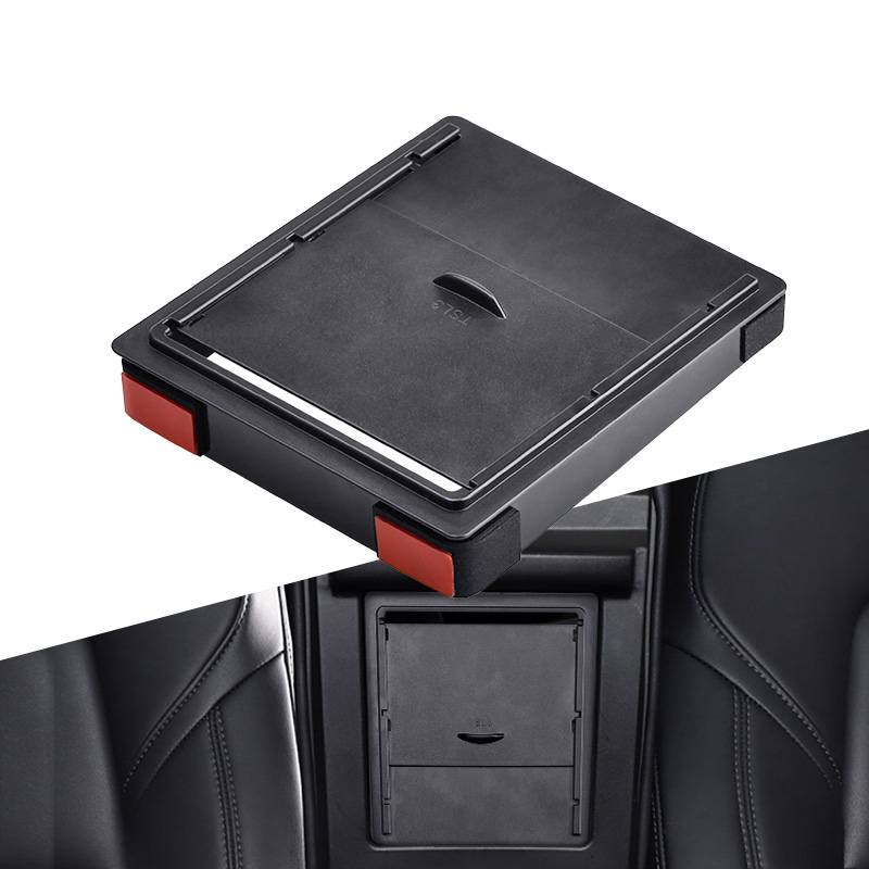 Storger para Tesla modelo 3 2017 2018 2019 caja de almacenamiento Reposabrazos de coche organizador contenedores transparente oculta caja de reemplazo