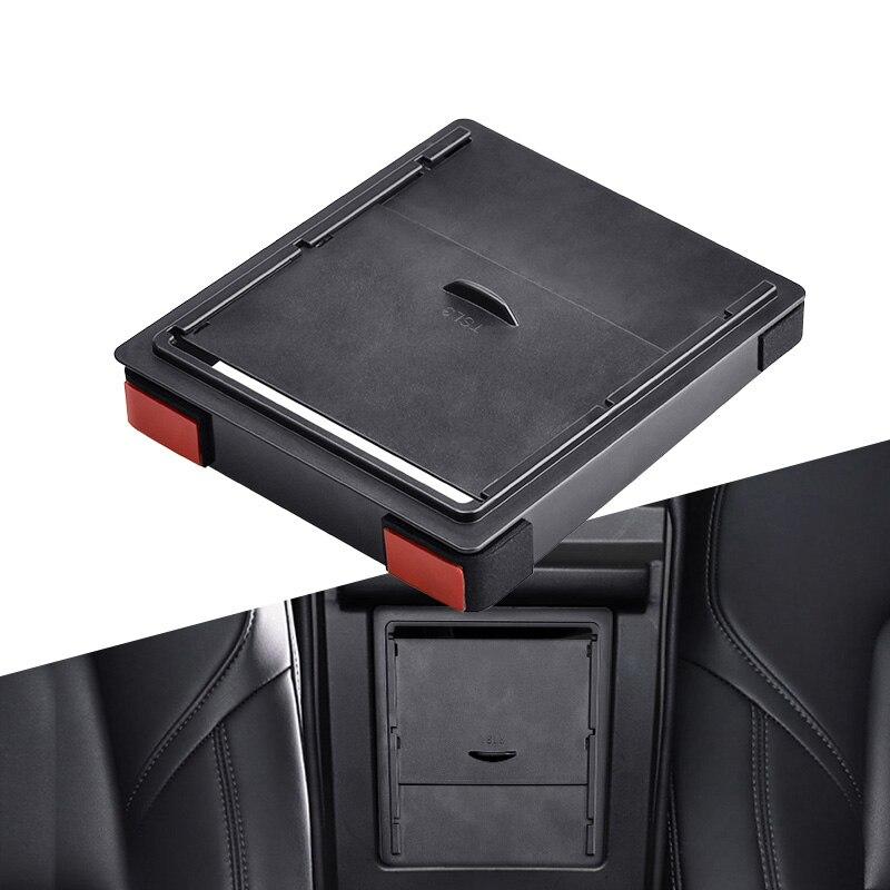 Storger pour Tesla modèle 3 2017 2018 2019 voiture accoudoir boîte rangement organisateur conteneurs Transparent caché boîte de support remplacement