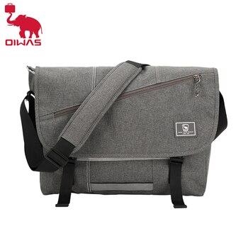 OIWAS 15 Inch Laptop Men Messenger Bags Fashion Business Travel Shoulder Bag Mens Canvas Briefcase Male Crossbody Handbag