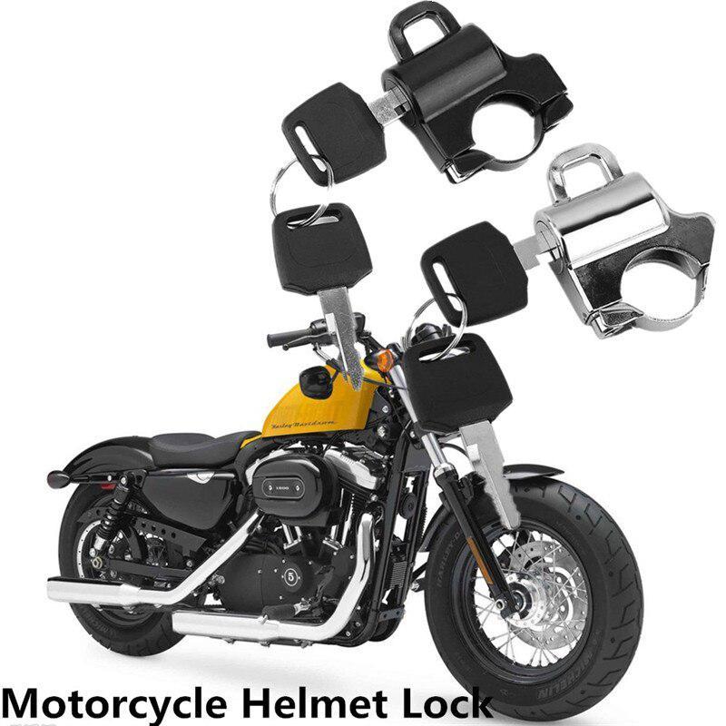 22MM Motorcycle Helmet Lock Helmet Security Lock Handlebars Padlock With 2 Keys Anti-theft Motorcycle Lock