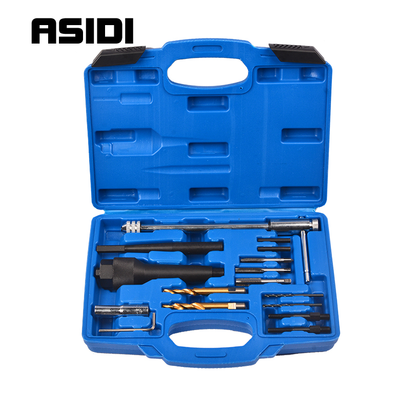 16 Pcs Damaged Glow Plug Removal Garage Drill & Wrench Car Tool 8mm 10mm CDI Engine  PT1095