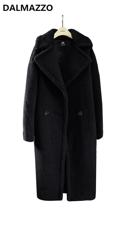 Brown Women Fashion Fake Fur Thick Warm Teddy Long Jacket Coat 2019 New Winter Female Big Size Clothes Oversize Windbreaker S-XL