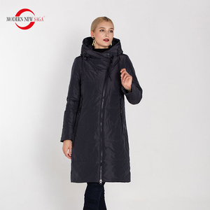 Image 2 - מודרני חדש סאגת 2020 סתיו נשים מעיל חם ארוך מעיל סלעית חורף Parka נשים גבירותיי חורף מעיל מוצק רוכסן אישה מעיל