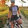 Kafitsummer nova camisa de ciclismo de manga curta terno de uma peça terno profissional feminino triathlon bicicleta de montanha macaquinho 19