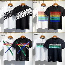 Classique 2021 FW Dsquared2 Boîte Logo T-Shirt Streetwear FEMMES/HOMMES Mode Coton Décontracté à manches Courtes col Rond T-Shirt