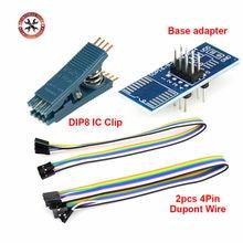 Abrazadera universal para programador DIP8, Clip de prueba para TL866, RT809F, RT809H, EZP2019, CH341A, programador EEPROM USB
