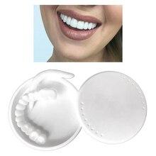 Silicone Snap Lower Upper False Teeth Veneers Dentures Fake Tooth Cover Dentures False Teeth Perfect Fit Paste Tools