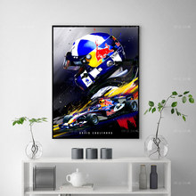 Moderne Home Decor David Coulthard F1 Abstract Poster Canvas Schilderij Print Modulaire Wall Art Foto Woonkamer Decoratie Frame