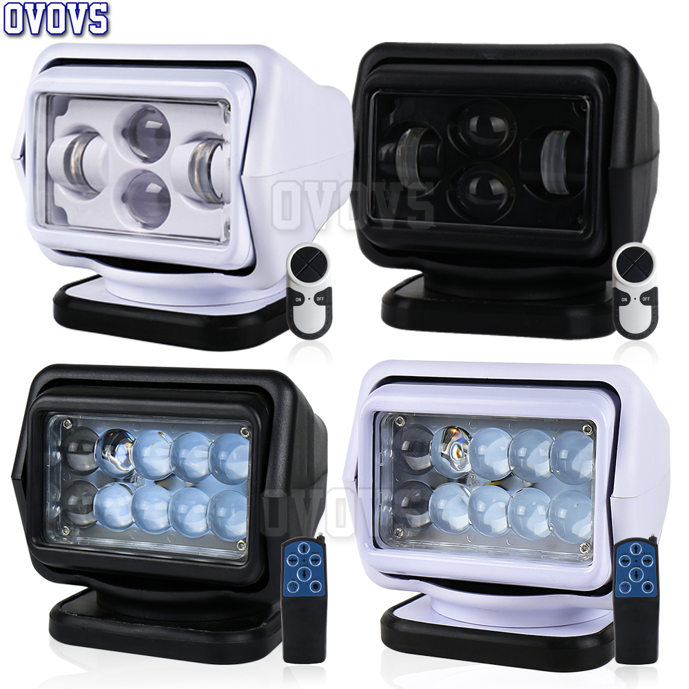 Marine searchlight 50W 60W Led Spotlight for Offroad Truck Yacht Boat Tractors Wireless Control