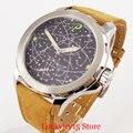 2 модели 44 мм  мужские часы с ручным заводом  специальный циферблат 6498  мужские наручные часы  круглый чехол из нержавеющей стали