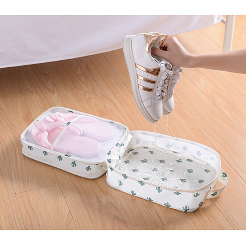 Portable Shoes Dustproof Storage Bag Women Men Double Waterproof Shoe Organizer Multifunction Travel Shoes Sorting Storage Box